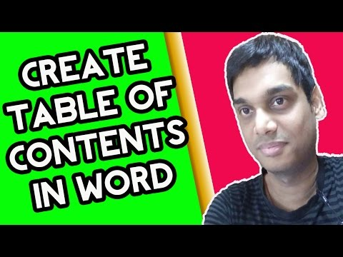 How to create Table of content in Microsoft word 2007/10/13 easily | Helping Abhi | Hindi