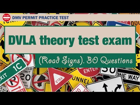 DVLA theory test exam (Road Signs)