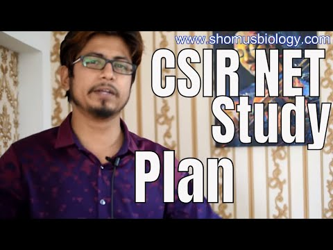 CSIR NET study plan | How to study smart for CSIR NET exam ?