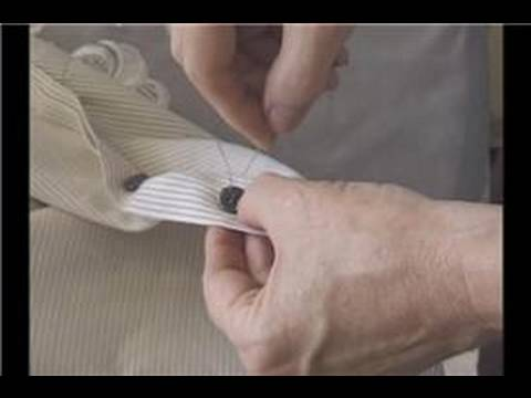 How To Sew a Button : Sewing a Shirt Button