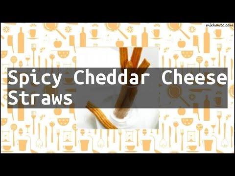 Recipe Spicy Cheddar Cheese Straws