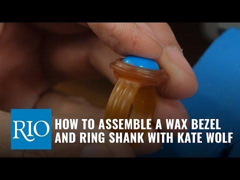 Flex Shaft Wax Carving, part 4: Assembling a Bezel and Shank
