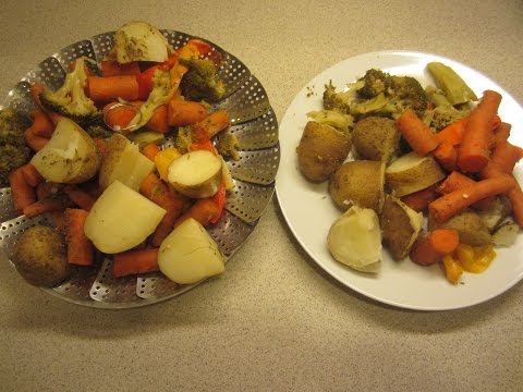 Potatoes carrets and veg in the Instant Pot