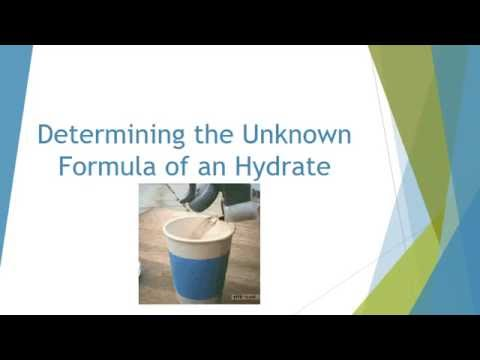 Determining the Unknown Formula of a Hydrate [2 of 2]