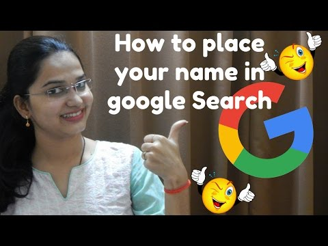 How to Place your Name in Google Search Engine [Hindi] | Google Search Engine