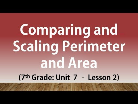 Comparing and Scaling Perimeter and Area: 7th Grade Unit 7 Lesson 2