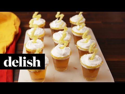 How to Make Butterbeer Jell-O Shots | Recipe | Delish