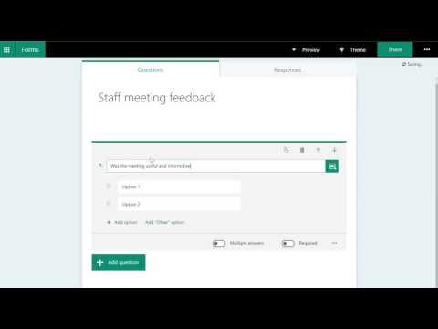Office365 - Create a survey with Forms