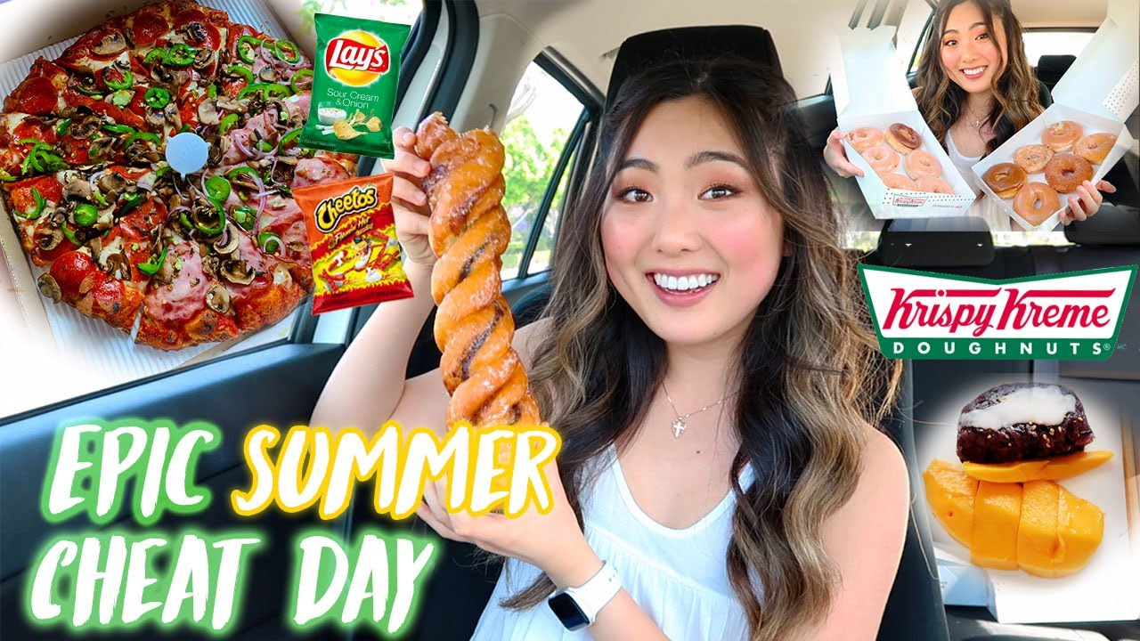 EPIC SUMMER CHEAT DAY | Eating Everything I Want (donuts, pizza, thai food, snacks)