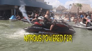 What Happens When You Put Nitrous In A 2017 Turbo Yamaha FZR? (Jetski)