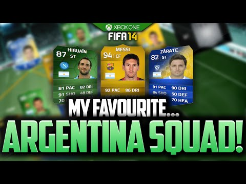 MY FAVOURITE...ARGENTINA SQUAD! MESSI! FIFA 14 ULTIMATE TEAM!