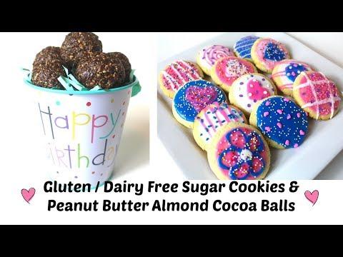 Sugar Cookies & Peanut Butter Almond Chocolate Balls (Gluten + Dairy Free/ Vegan Option)