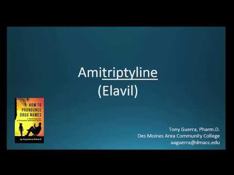 (CC) How to Pronounce amitriptyline (Elavil) Backbuilding Pharmacology