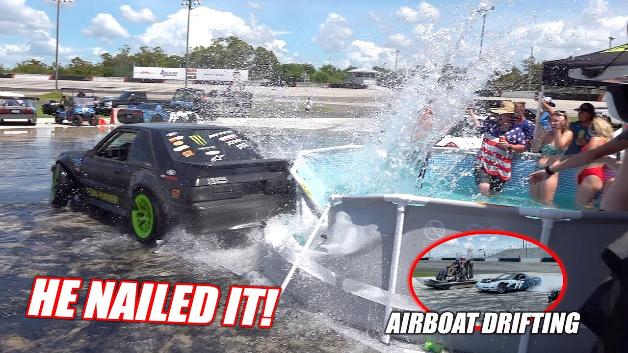 We Got a Luxurious POOL For the Freedom Factory!!! But Vaughn Gittin Jr. Immediately Destroyed It...