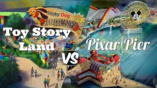 Pixar Pier Vs Toy Story Land