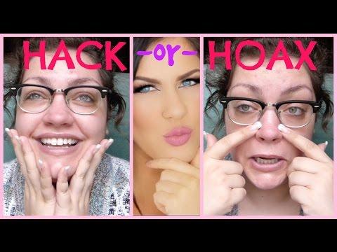 HACK OR HOAX   Nikkia Joy's Oily Nose Foundation Trick
