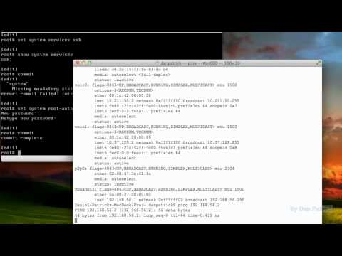 JUNOS IP Address-SSH