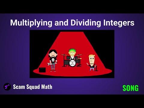 Multiplying Dividing Integers Song