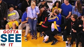 GOTTA SEE IT: Fan Gets Ejected For Shoving Kyle Lowry In Game 3 Of NBA Finals