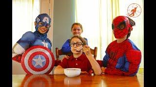 New Sky Kids Super Episode 4 - Superhero Training w Supergirl, Captain America & Kids Nerf War Movie