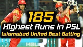 Islamabad United Best Batting Ever in PSL | Islamabad United Vs Multan Sultans | HBL PSL 2018