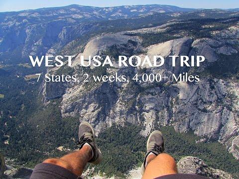 WEST USA ROAD TRIP, 7 States, 2 weeks, 4K+ Miles