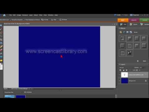 How To Create A Watermark In Photoshop Elements