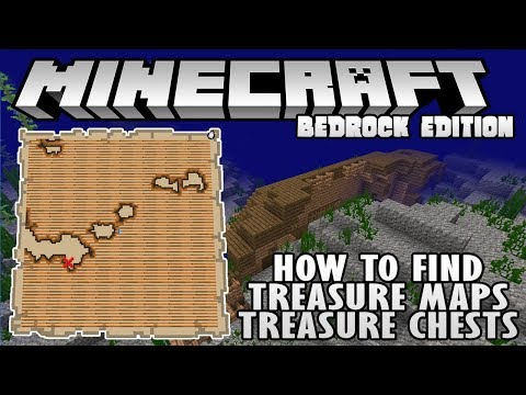 How To Find Treasure Maps and Treasure Chests in Minecraft 1.3 Bedrock Edition (XB1, PE, W10)