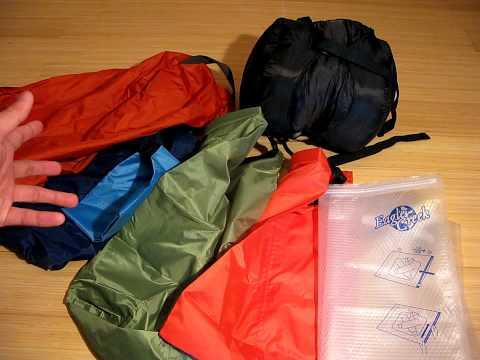 Stuff Sacks, Dry Bags, and Compression Sacks