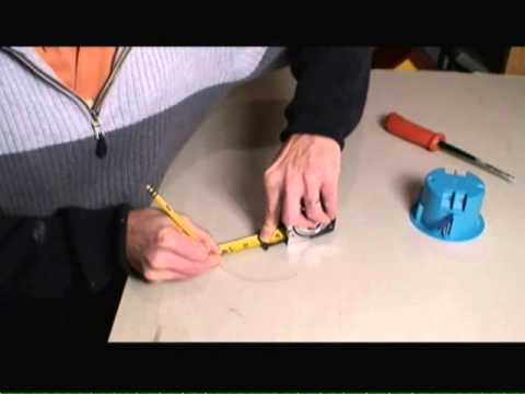 How to Cut Circular Holes in Drywall Video