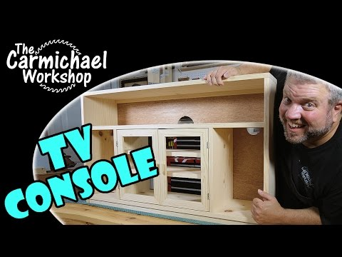 Make a TV Console Stand - Entertainment Center Woodworking Project