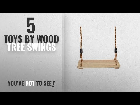 Top 10 Wood Tree Swings Toys [2018]: Wooden Tree Swing For Kids: Hang This Adjustable Childs Wood