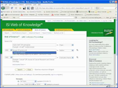 Finding articles from Web of Science