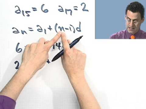 Using Two Terms to Find an Arithmetic Sequence