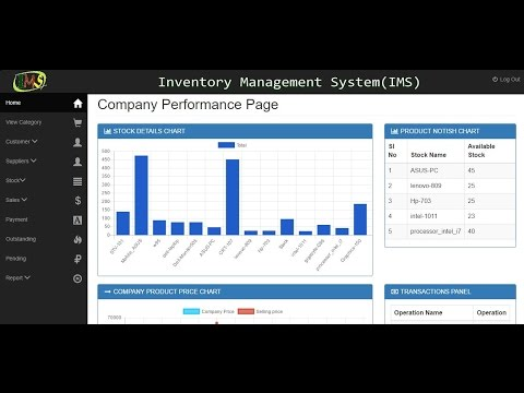 Inventory Management System Project with full source code