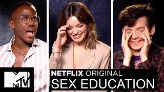 Netflix's Sex Education Cast Play 2 Truths & A Lie & Talk Sex Scenes | MTV Movies
