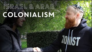 Discussing Arab colonialism and Zionism at Speakers Corner