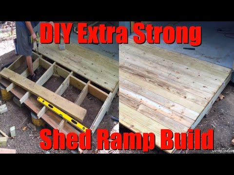 Easy DIY Extra Strong Heavy Duty Shed Ramp Build - Low Cost 8' Shack Ramp on a Hill Slope