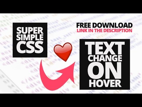 Text Change on Hover Using CSS [VOICE TUTORIAL]