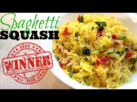 Spaghetti Squash Pasta - Baked Spaghetti Squash Recipe - PoorMansGourmet
