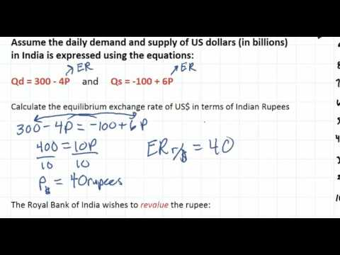 Calculating Exchange Rates from Linear Equations - part 1
