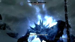 Skyrim First Time Using Elder Scroll And Fighting Alduin