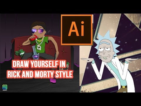 Draw yourself in Rick and Morty style
