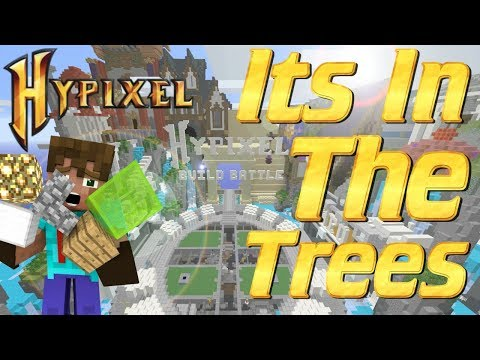 Minecraft: How to build a Tree House in Minecraft in Hypixel Build Battle   Lets play PVP Minecraft