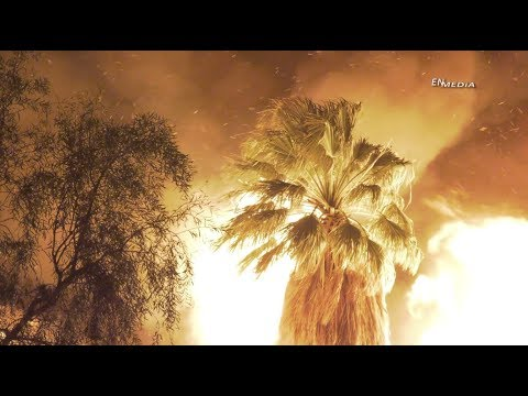 Coachella: Heavy Wind Vegetation Fire