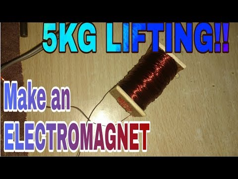 How to make a Powerful Electromagnet (5KG LIFTING)