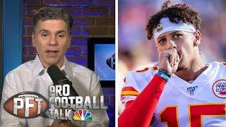 More likely: Patrick Mahomes solves Patriots' D or fails? | Pro Football Talk | NBC Sports