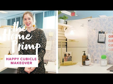 Cubicle Makeover | How To Create A Happier And More Productive Workspace | The Home Primp