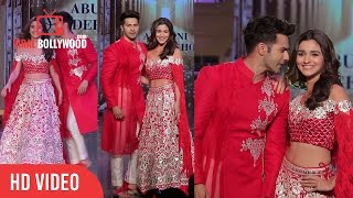 Varun Dhawan And Alia Bhatt Ramp Walk | @Fevicol