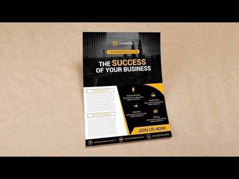 Illustrator Tutorial - Corporate Business Flyer Design